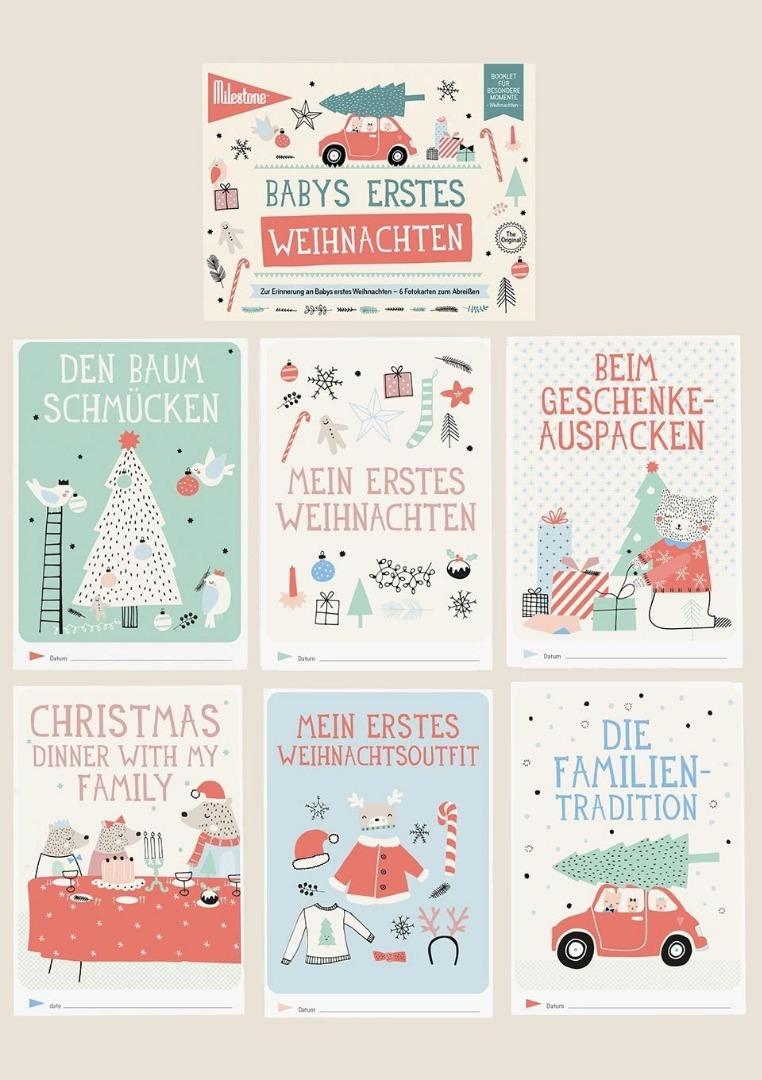 Baby Cards Milestone Weihnachten