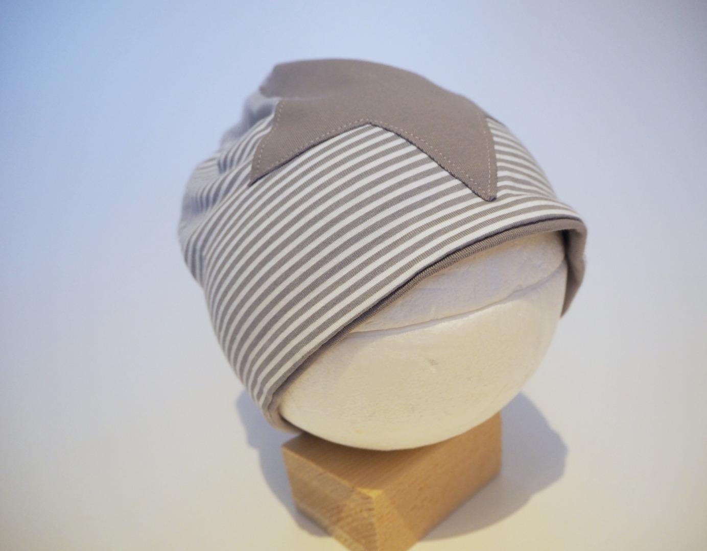Hipster Mütze Kind grau 2