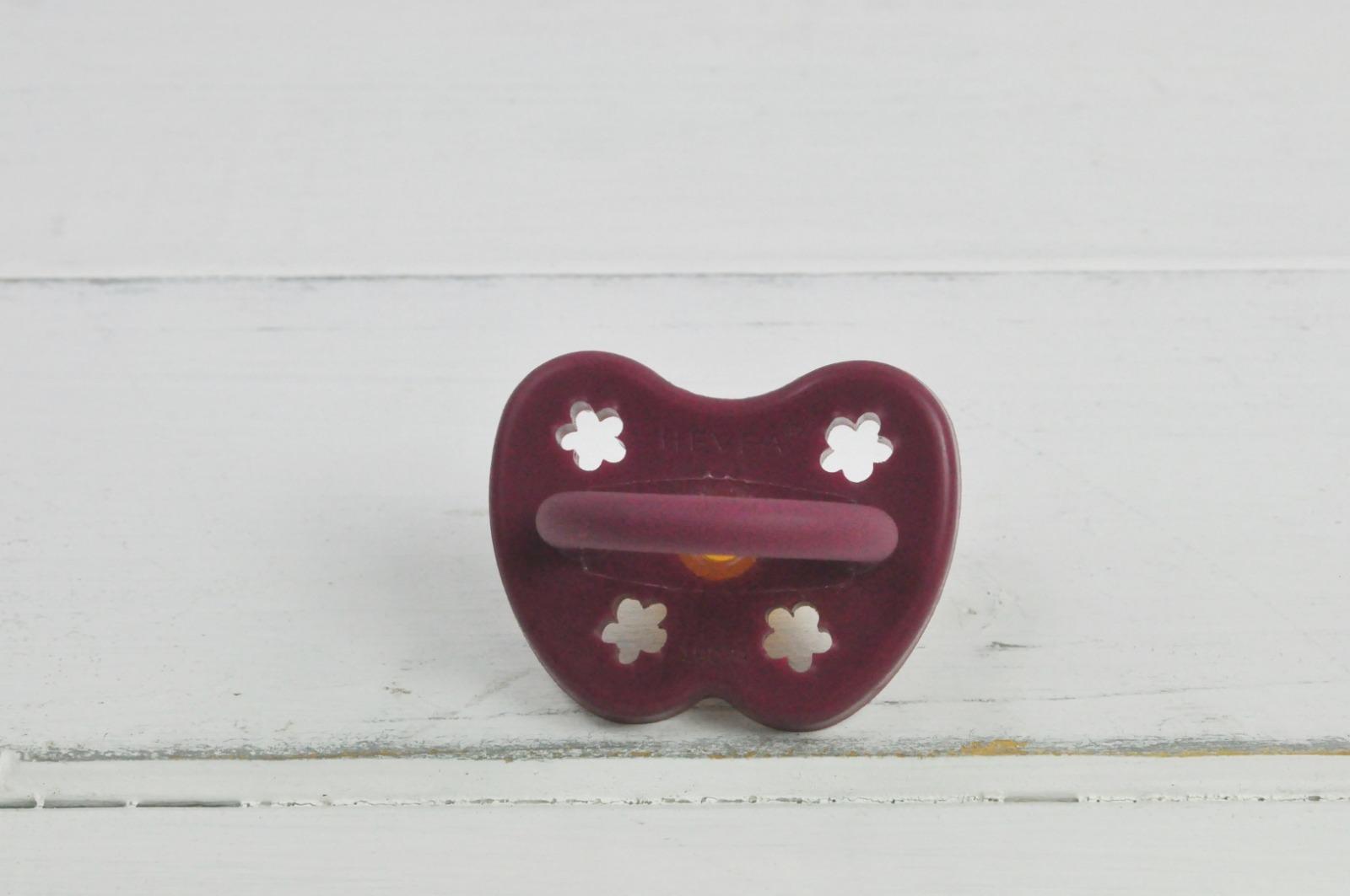 Schnuller Kautschuk Hevea kiefergerecht Blume Monate