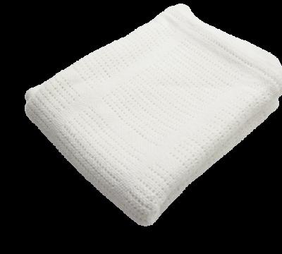 Baumwolle Strickdecke weiß von lulujo Babydecke
