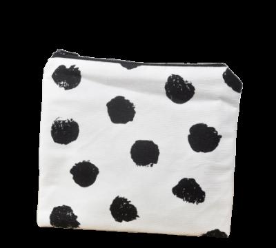 Kosmetiktasche Kulturbeutel schwarz weiß Lille-sol