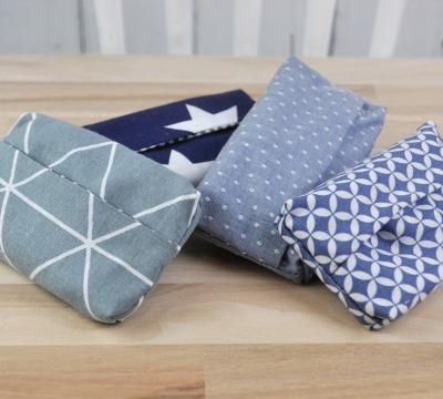 Taschentüchertasche Zero waste grau