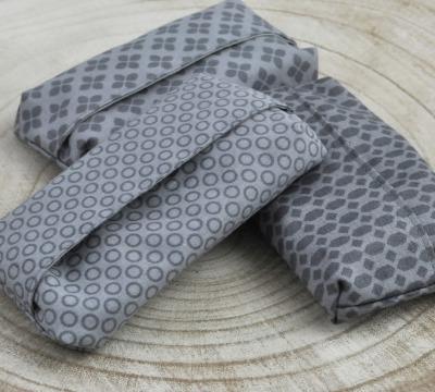 Taschentüchertasche Zero waste grau Tatüta