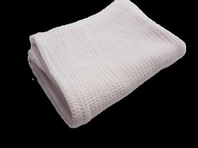 Baumwolle Strickdecke puder rosa von lulujo