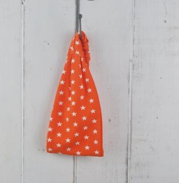 Bandana Haarband orange mit weißen Sterne