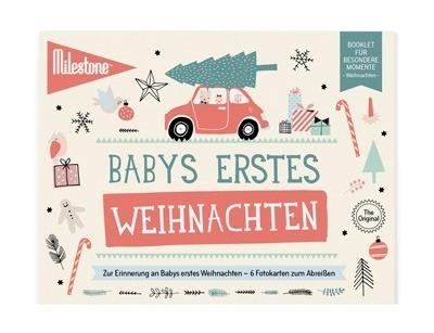 Baby Cards Milestone Weihnachten Babys erstes