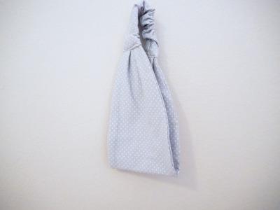 Haarband hellgrau - Punkte
