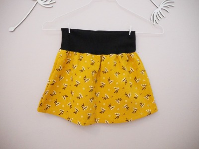 Kinder Rock senfgelb - handmade Skirt