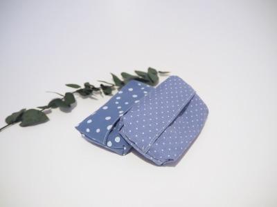 Taschentüchtasche blau - Zero Waste