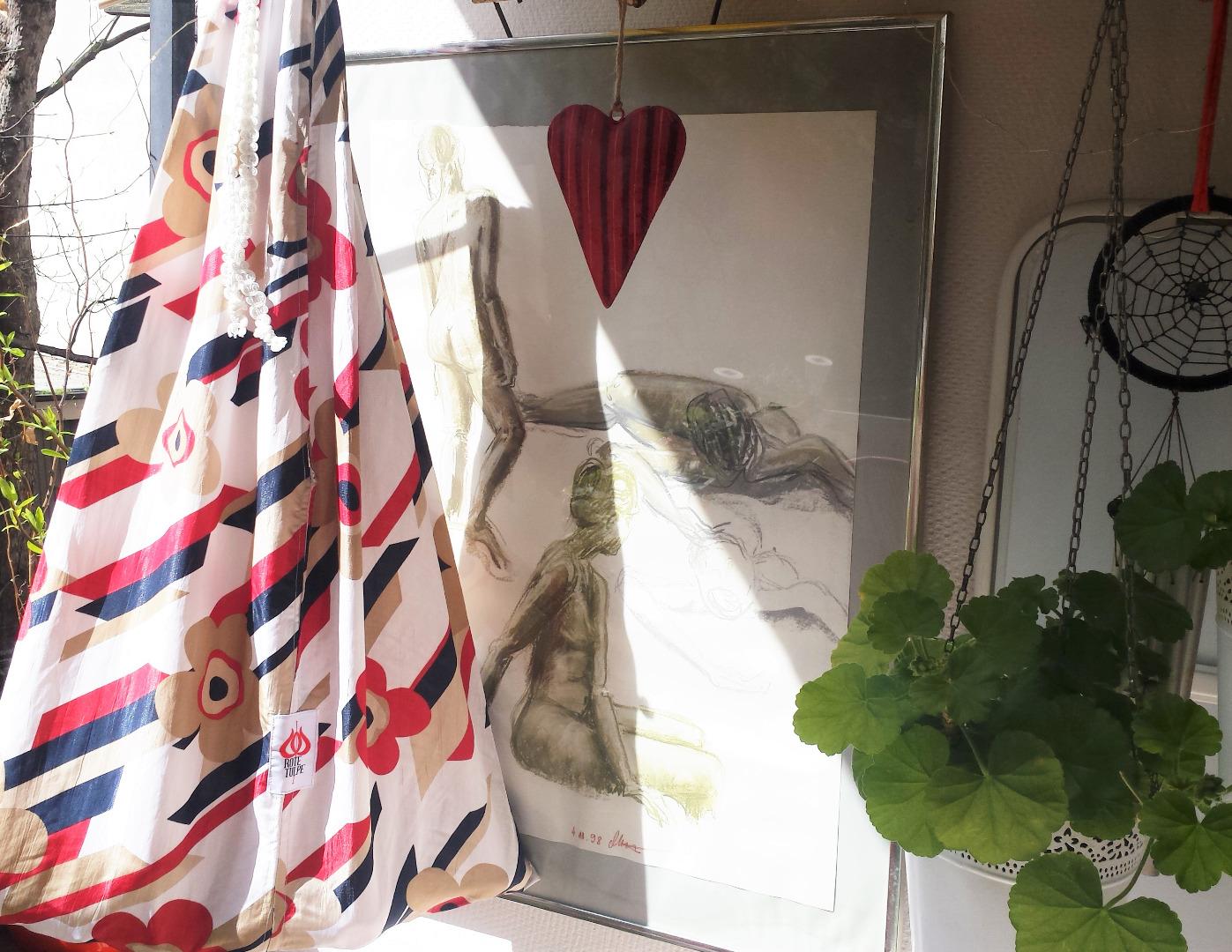 Tasche mit Blumen Markt Tasche Einkauf