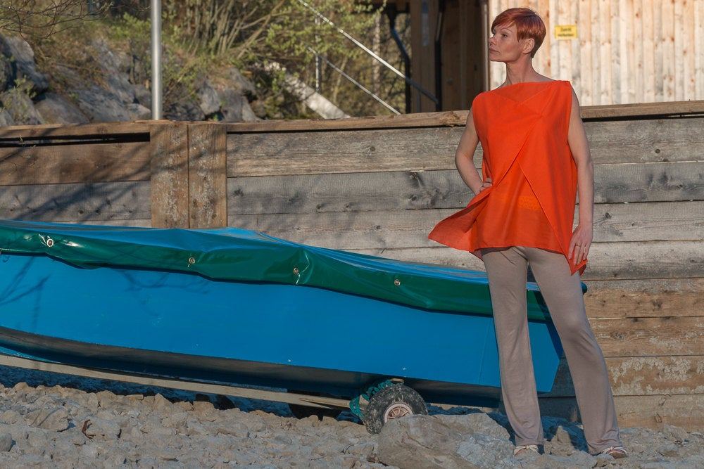 Sommerbluse Blusen-top Modern in Orange 2