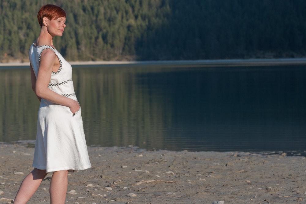 Kleid Wanda Baumwollkleid in Weiß 3