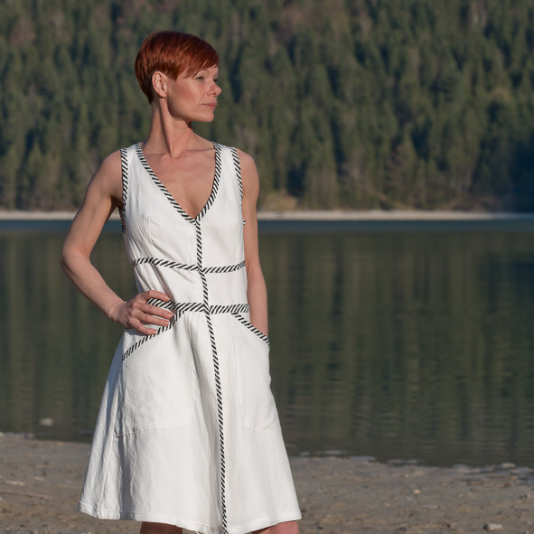 Kleid Wanda Baumwollkleid in Weiß 2