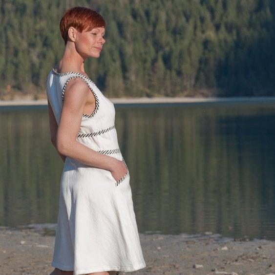 Kleid Wanda Baumwollkleid in Weiß 4