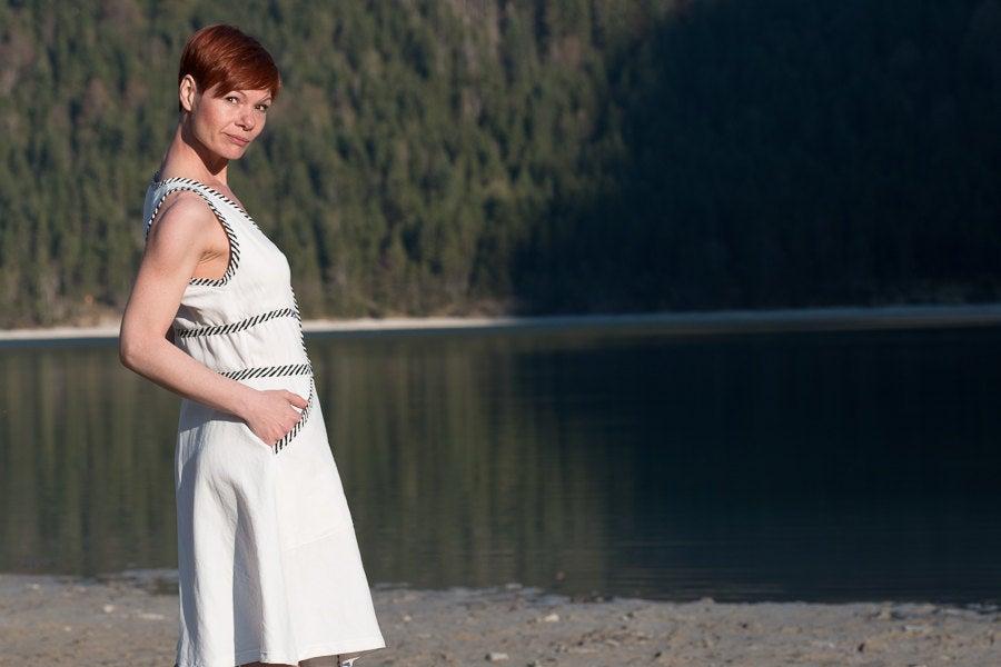 Kleid Wanda Baumwollkleid in Weiß 5