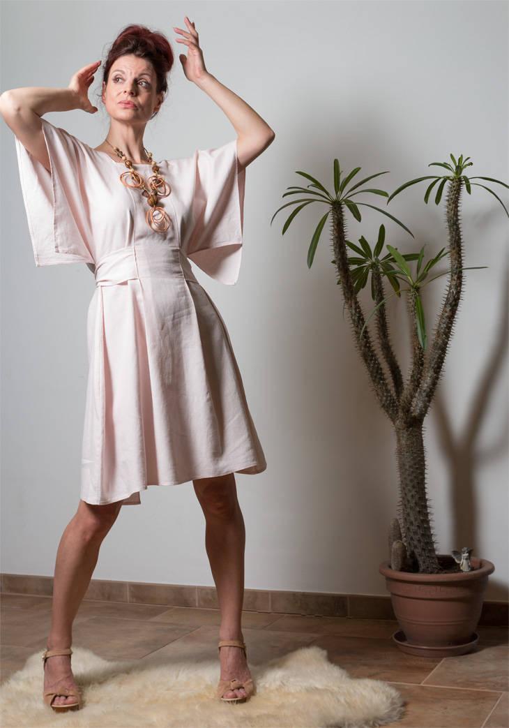 Leinen Kleid Kandy schlichtes Sommerkleid 3