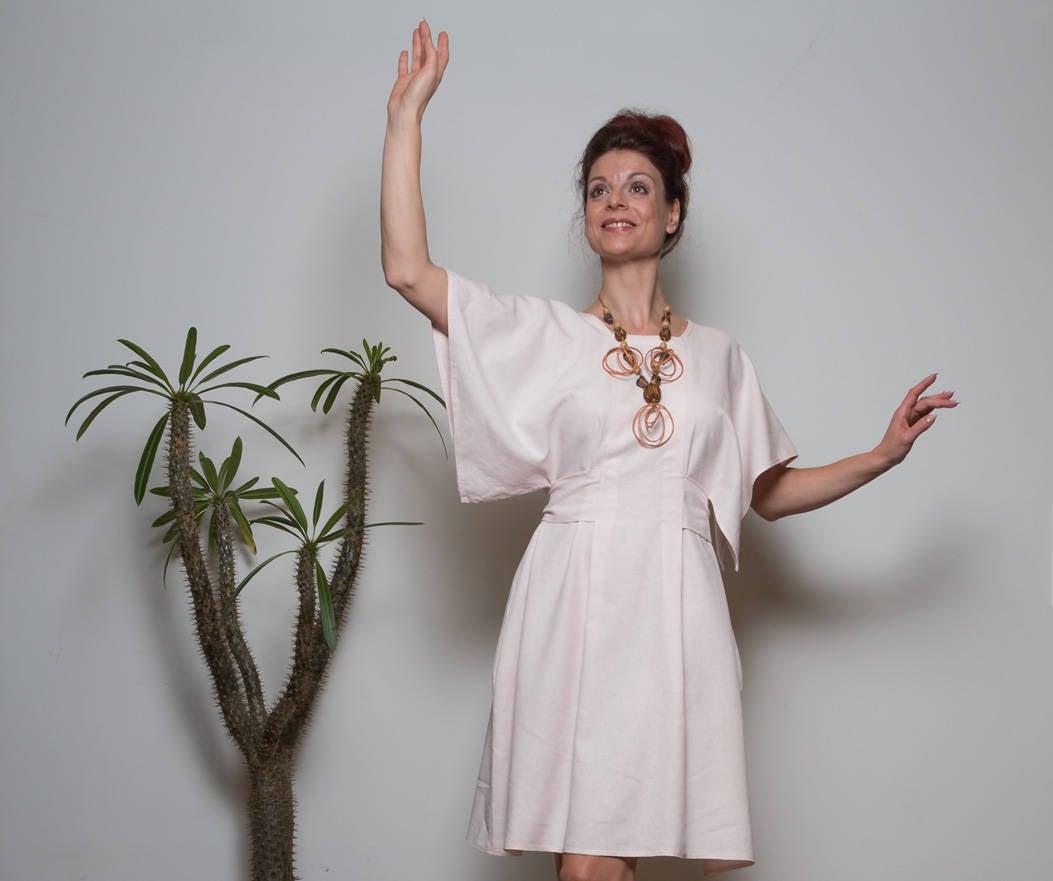 Leinen Kleid Kandy schlichtes Sommerkleid 2