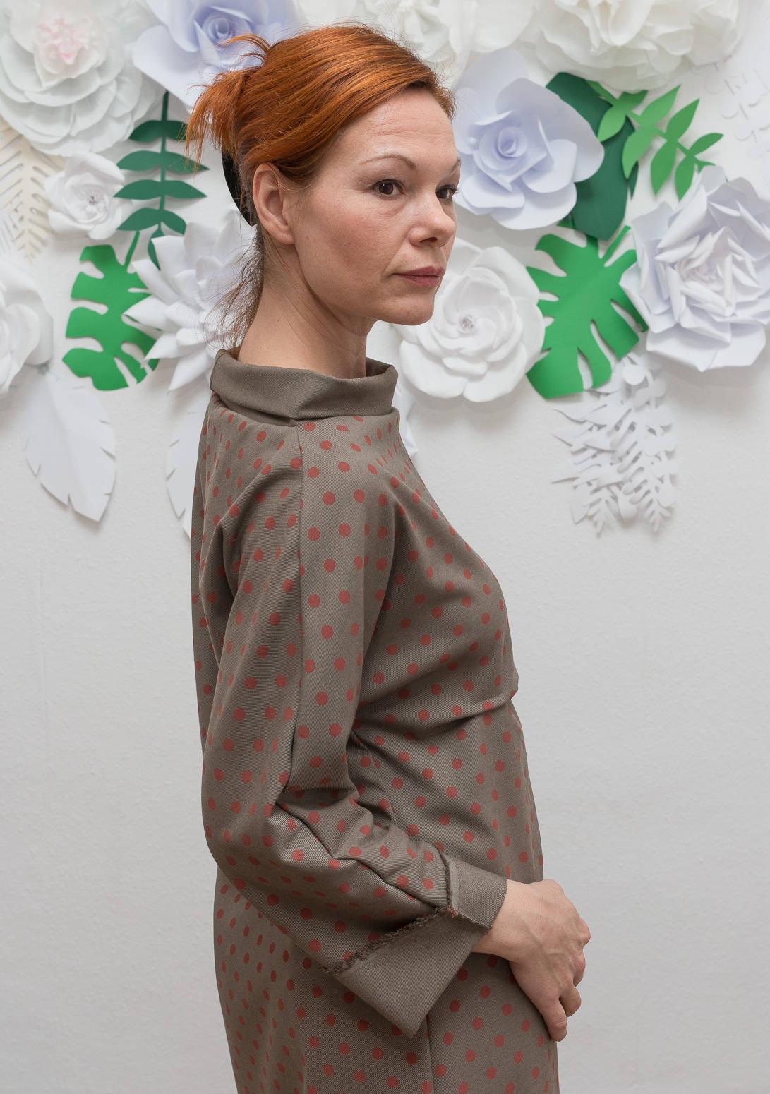 ROTETULPE Winterkleid Kimono Kleid 2