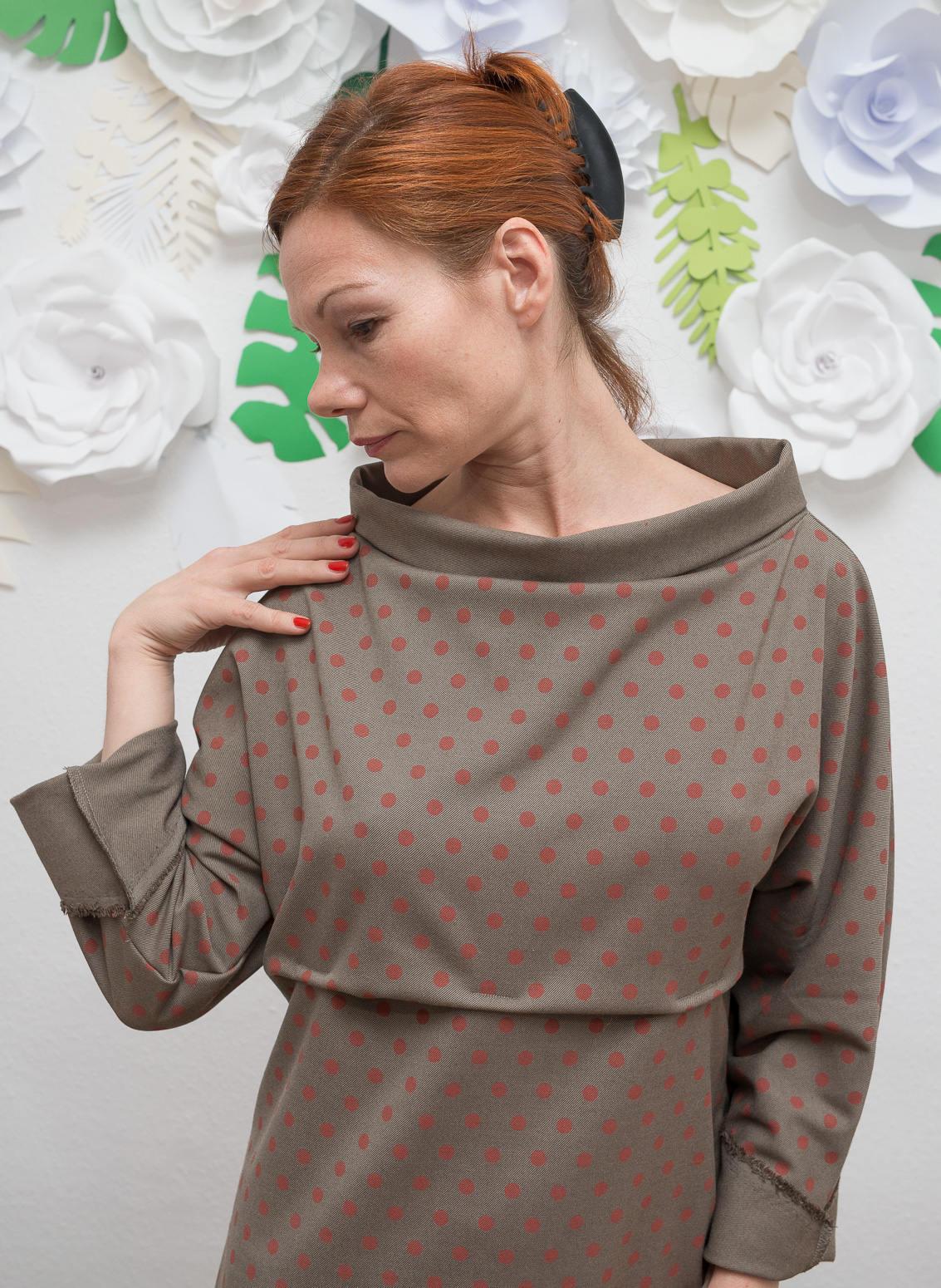 ROTETULPE Winterkleid Kimono Kleid 3