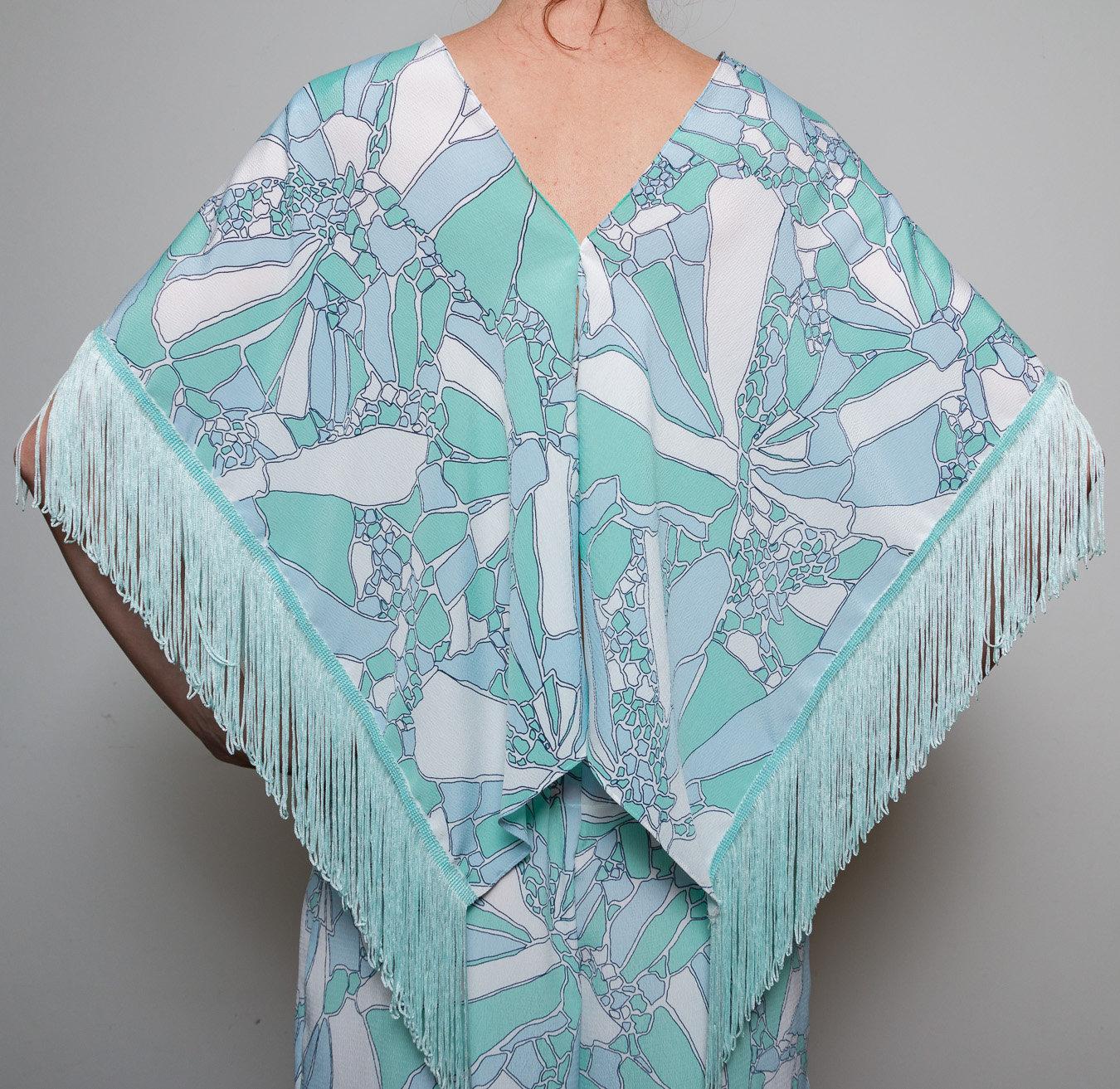 Seidenbluse Kimono Sommer Bluse Lässiger Style