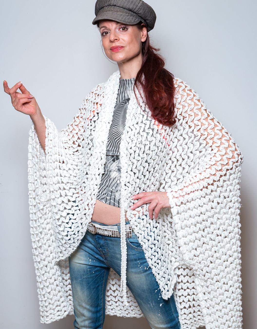 Strickjacke Weiß Sommer Cardigan