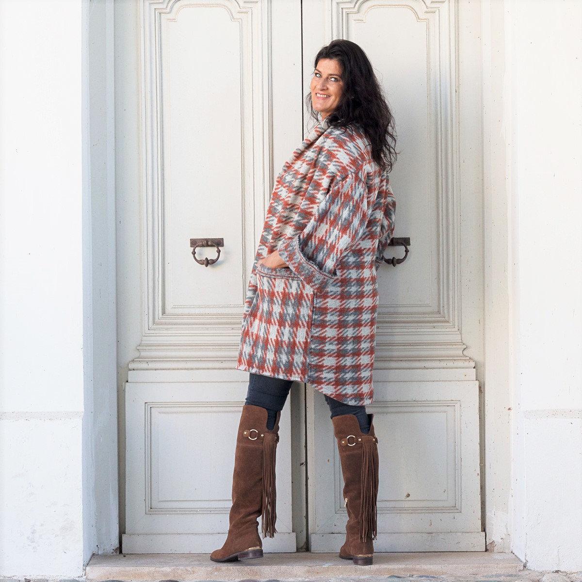 Lange Strickjacke für Frauen Oversized Mantel