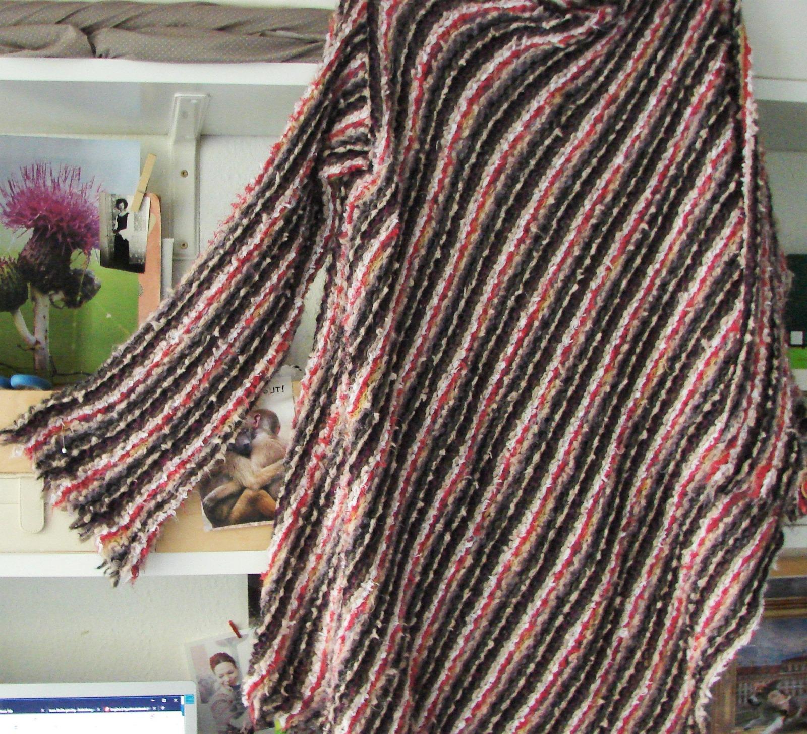 Lange Strickpullover mit Kimono ärmel 8