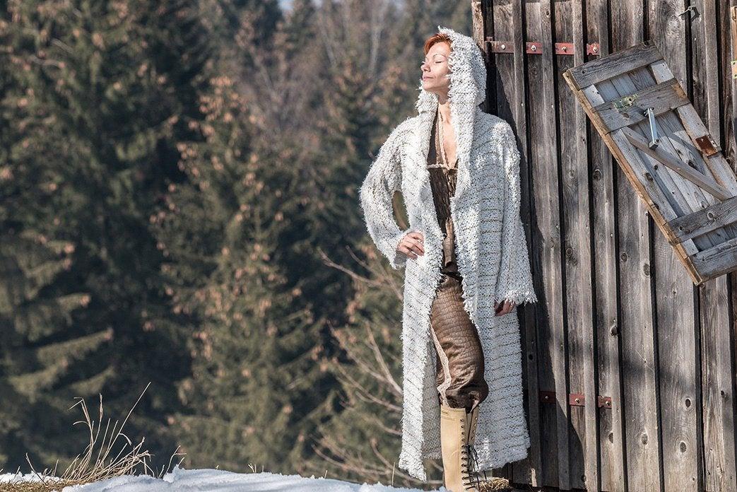 Weiße Strickmantel Josie Sommerjacke 3