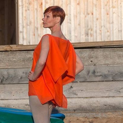 Blusentop Modern in Orange 6
