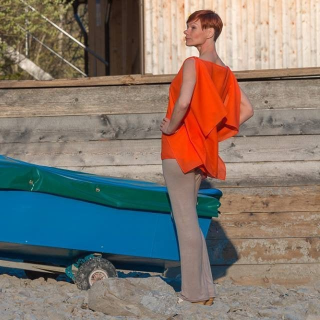 Sommerbluse Blusen-top Modern in Orange 7