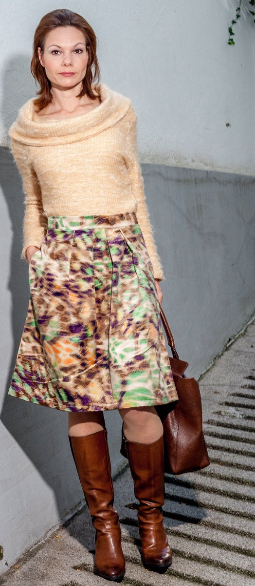 Skirt Rock London Midi Winter Rock