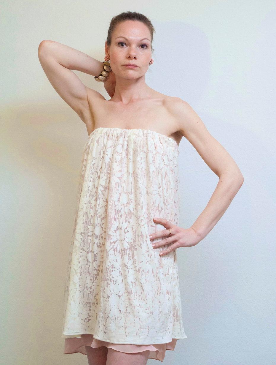 Kleid Roma Sommerkleid Boho Kleid Weiß