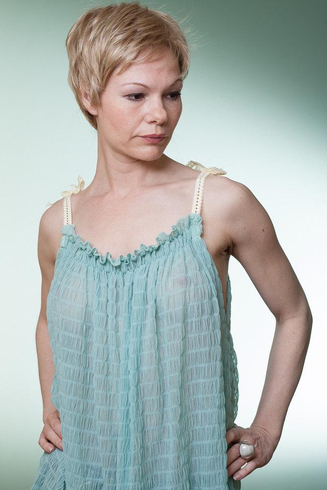 Tunika Top aus Tüll Sommertop Sommerkleid