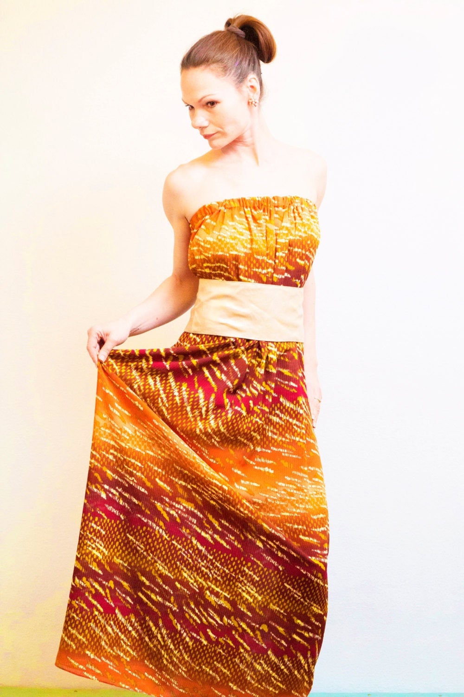 Boho Kleid Sommerkleid ROTETULPE 2
