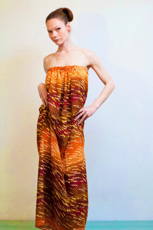 Boho Kleid Maxikleid Lange Sommerkleid Burnt