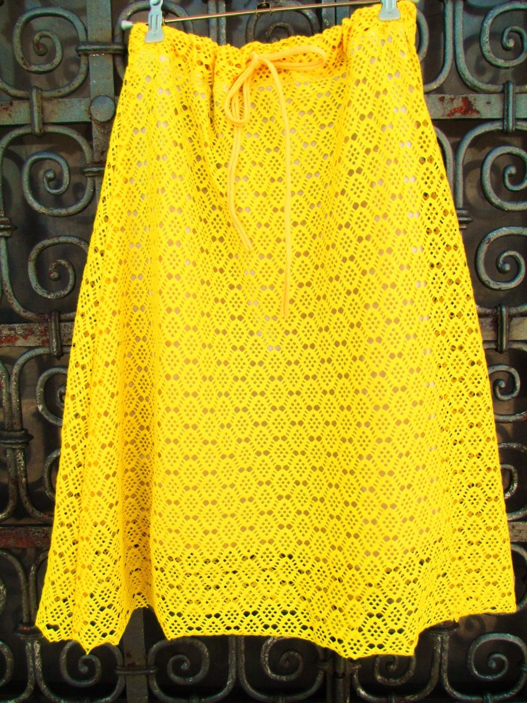 Sommerrock Sunny Sommerrock aus Spitze Gelb