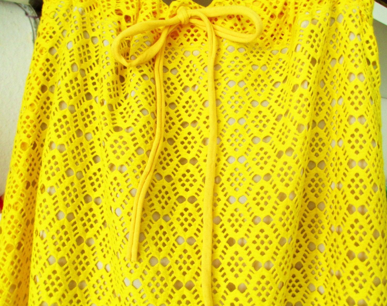 Sommerrock Sunny aus Spitze Gelb