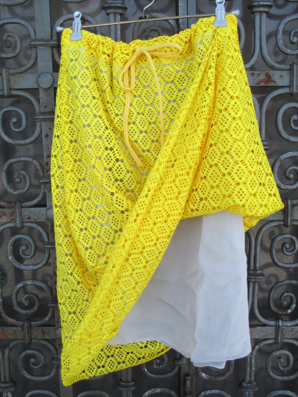 Sommerrock Sunny aus Spitze Gelb 5