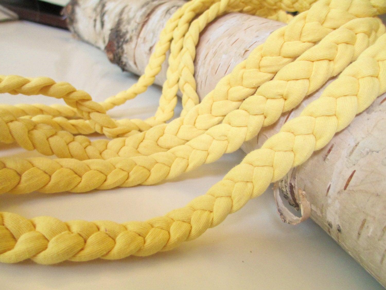 Geflochtener Gürtel in Gelb Sommergürtel Gürtel