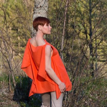 Blusentop Modern in Orange 3