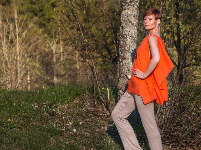 Blusentop Modern in Orange 4
