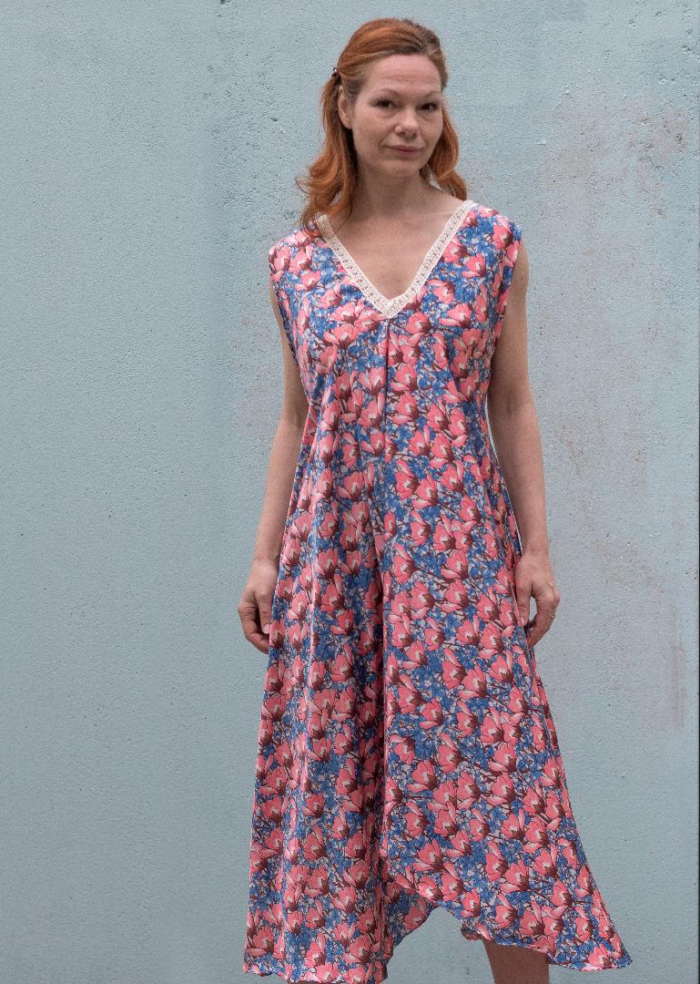 Sommer Kleid Blau ROTETULPE 3