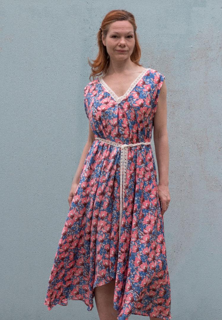 Sommer Kleid Blau maxi Kleid von