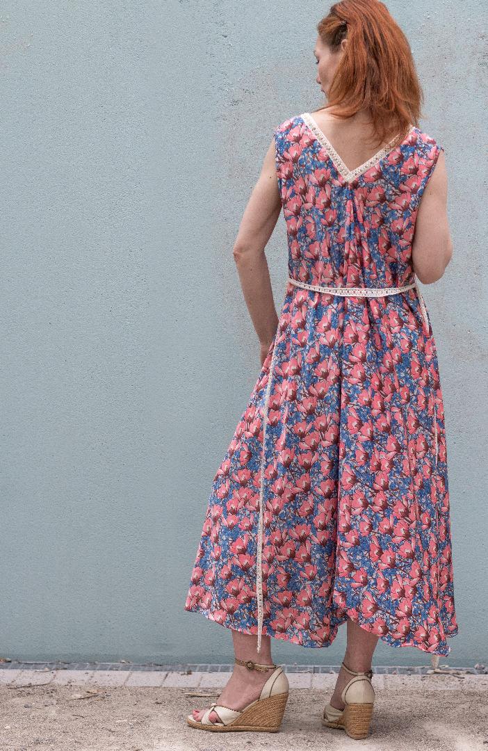 Sommer Kleid Blau ROTETULPE 2