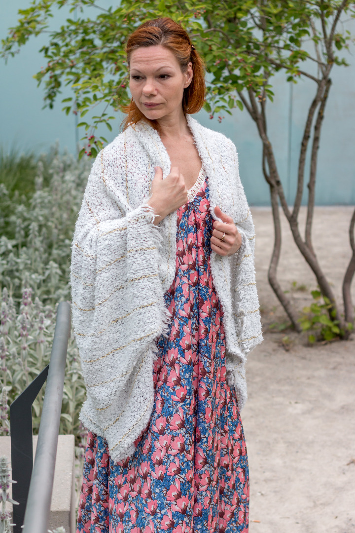 Weiße Strickjacke Sommer Cardigan Fee 3