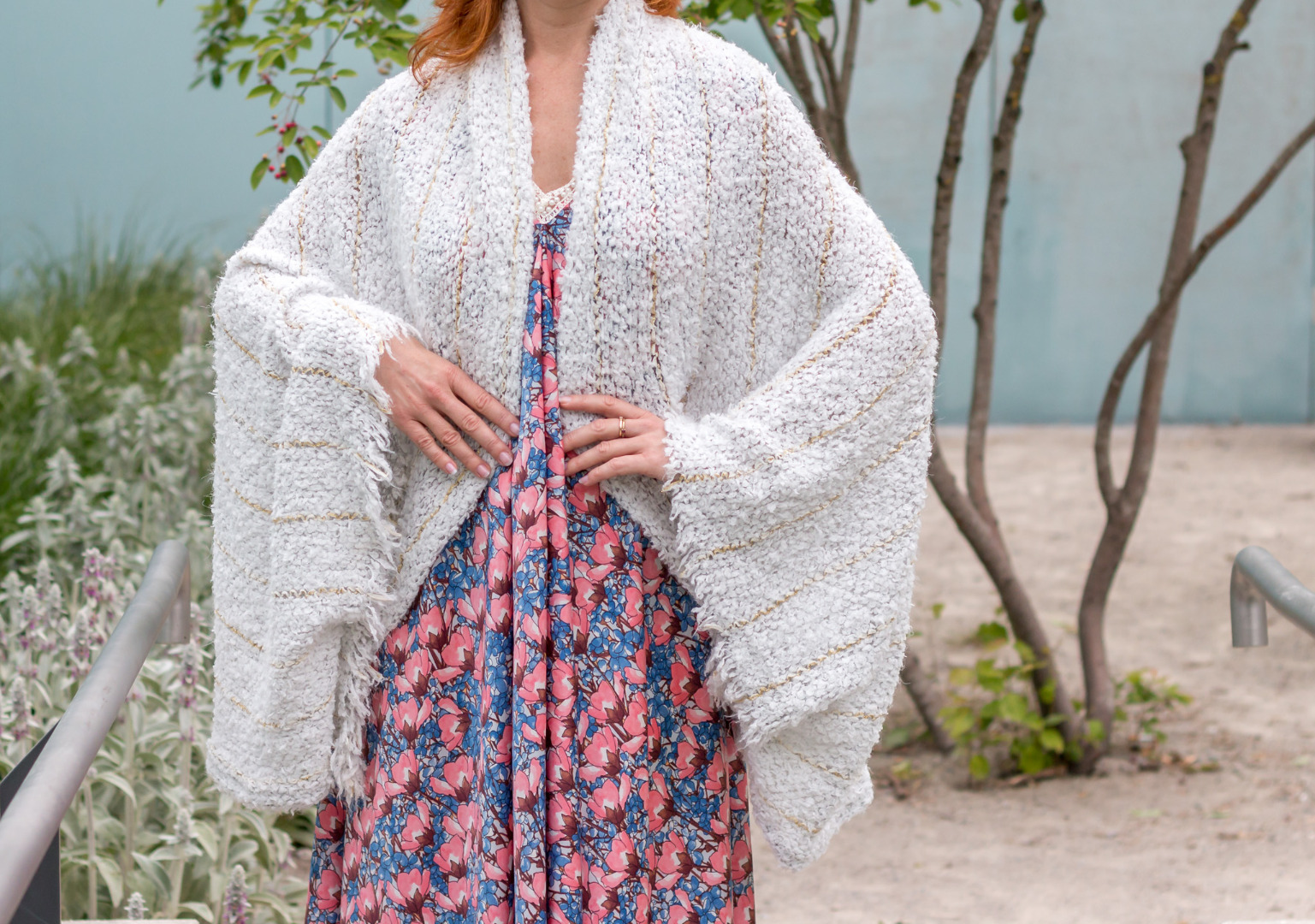Weiße Strickjacke Sommer Cardigan Fee 2