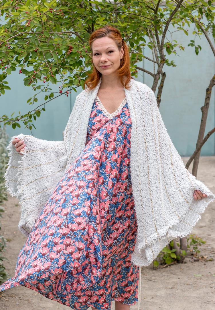 Sommer Kleid Blau ROTETULPE