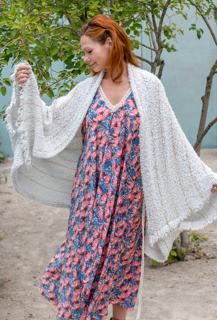 Weiße Strickjacke Sommer Cardigan Fee