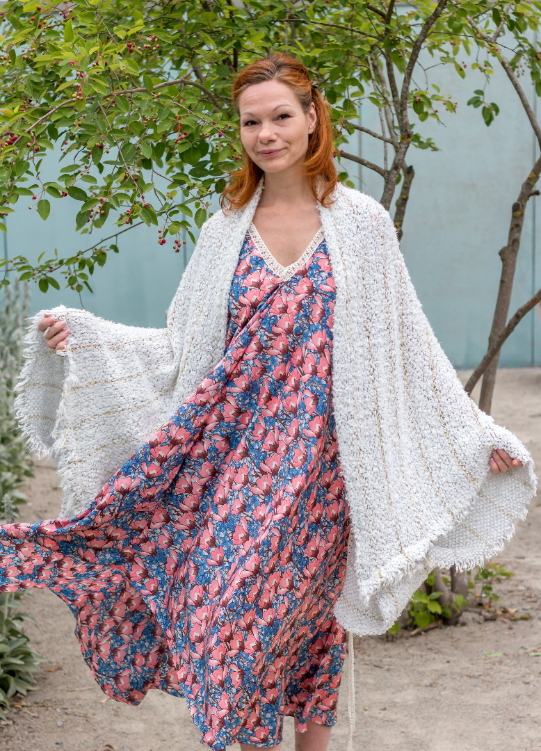 Weiße Strickjacke Sommer Cardigan Fee 4
