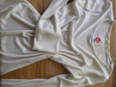 linien Shirt weiss Silber Sommer Shirt